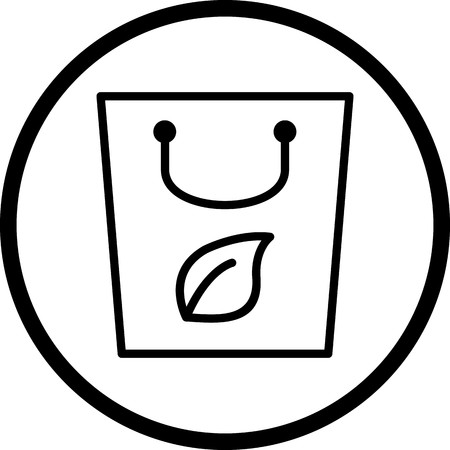 Vector Eco Bag Icon
