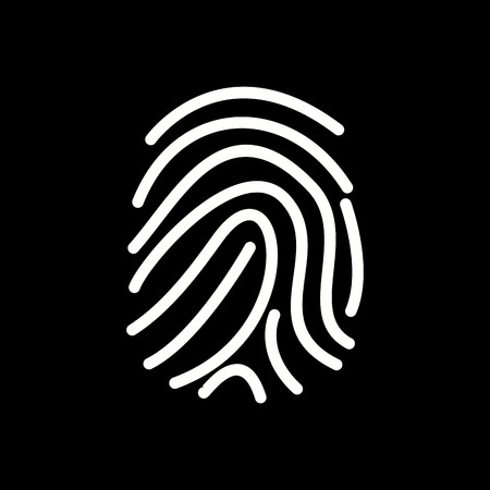 Vector Finger Print Icon