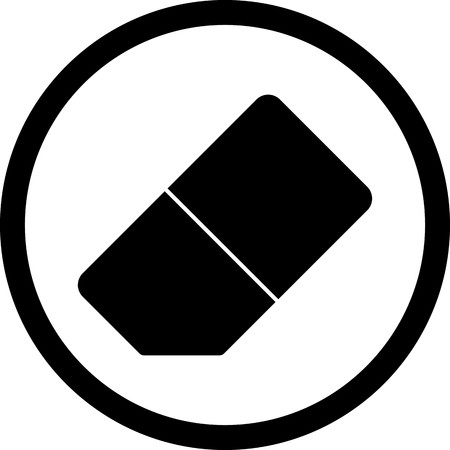 Vector Eraser Icon