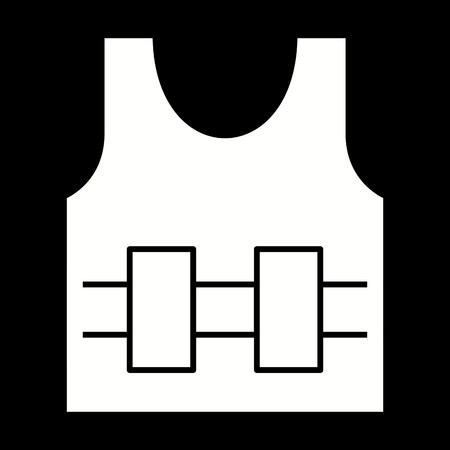 Vector Bullet Proof Jecket Icon Çizim