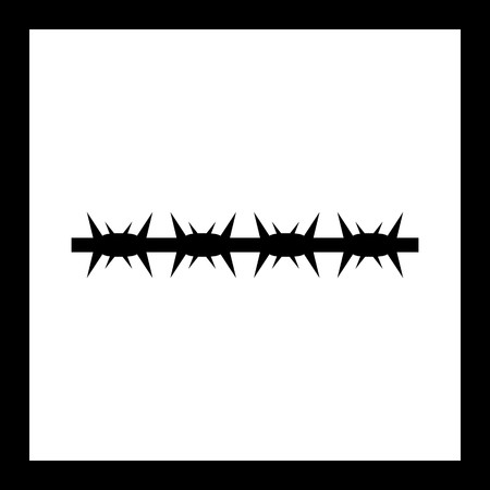 Vector barbed wire Icon