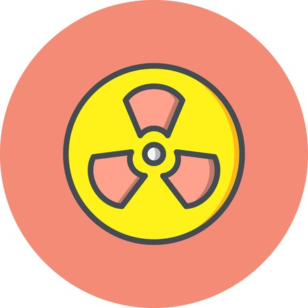 Vector Radiation Icon Illustration