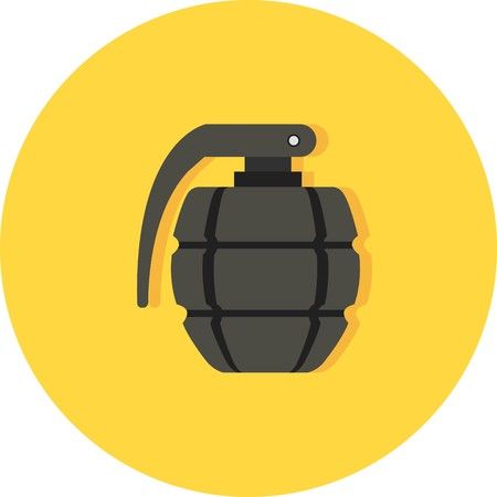 Vector Grenade Icon Illustration