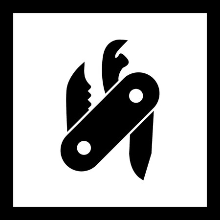 Vector Swiss Army Knife Icon Illustration