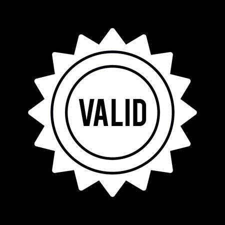 Vector Valid Stamp Icon Vecteurs