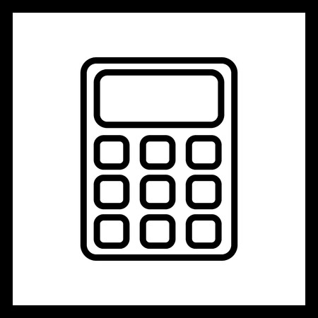 Vector Calculator Icon Vektorové ilustrace
