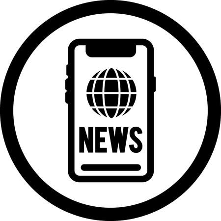Vector News Icon Illustration