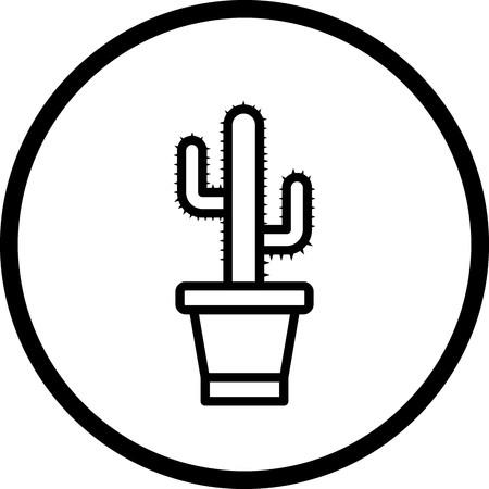 Vektor-Kaktus-Symbol