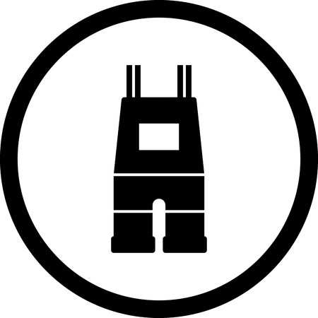 Vector Dungarees Icon Stock Illustratie