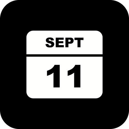 September 11th Date on a Single Day Calendar