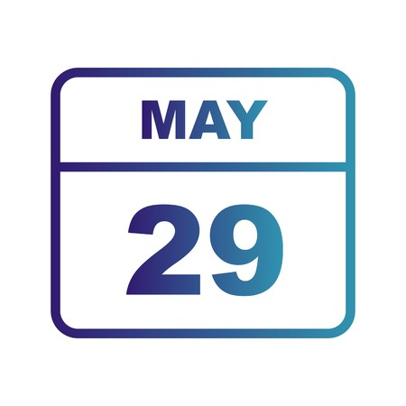 May 29th Date on a Single Day Calendar