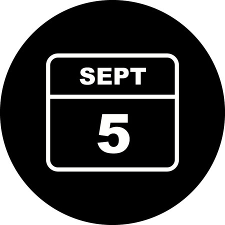 September 5th Date on a Single Day Calendar