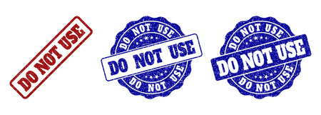 DO NOT USE scratched stamp seals in red and blue colors. Vector DO NOT USE watermarks with scratced style. Graphic elements are rounded rectangles, rosettes, circles and text labels.