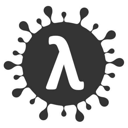 Lambda virus vector illustration. Flat illustration iconic design of Lambda virus, isolated on a white background.