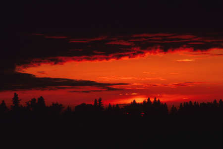 corey hochachka: Red sunset Stock Photo