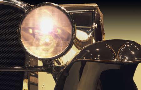 Vintage automobile headlight