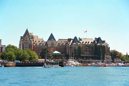 Empress hotel in Victoria, BC Stock Photo