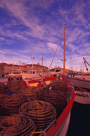 carson ganci: Moored fishing boats