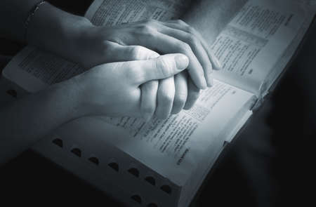 intercession: Praying the promises of the Word Stock Photo