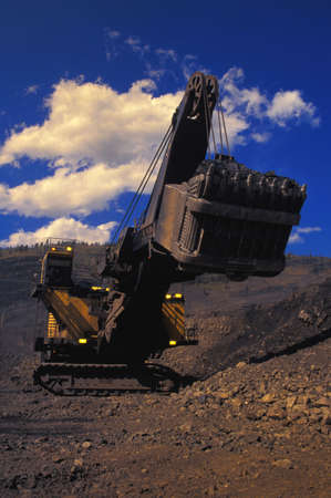 carson ganci: Drag line in open pit mine Stock Photo