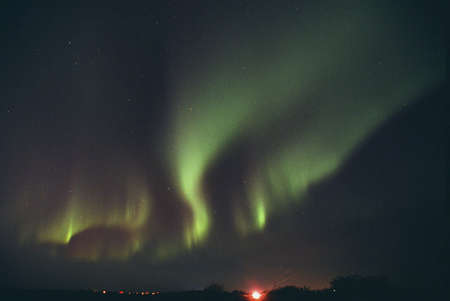 carson ganci: Northern lights,Alberta Canada Stock Photo