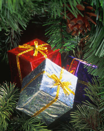 darren greenwood: Christmas tree ornaments Stock Photo