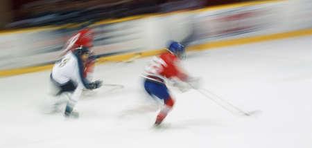 don hammond: Ice hockey players skating Stock Photo