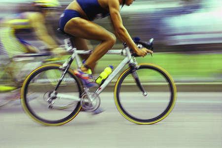 road bike: Cyclists racing