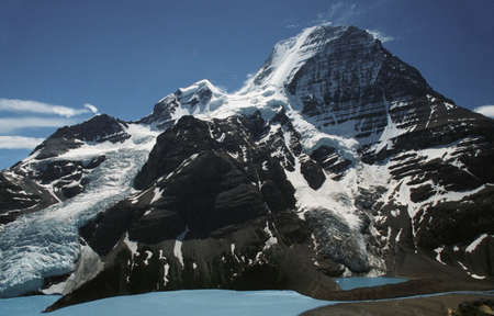 Mountain with glacier and snow Imagens