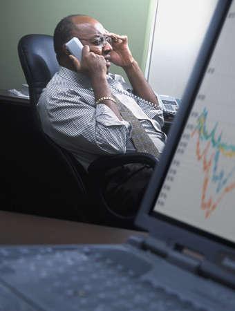 Man speaking on telephone Stock Photo - 6213092