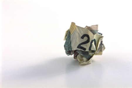 corey hochachka: Crumpled twenty dollar bill