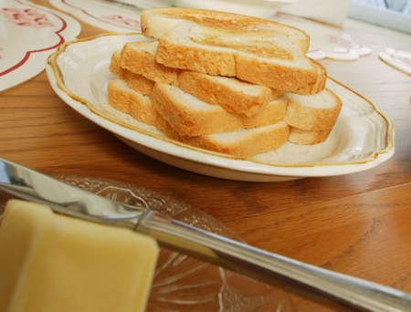 darren greenwood: Toast on the breakfast table