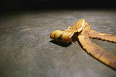 Banana peel on the floor