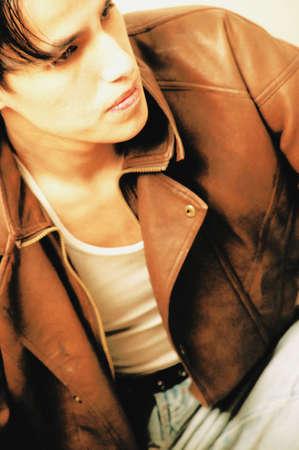 Sitting brooding jacket photo