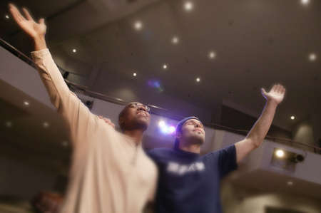 Two men worshipping God in unity Stock Photo - 6213220