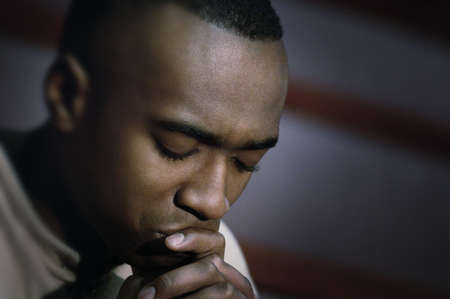 confession: Man in prayer