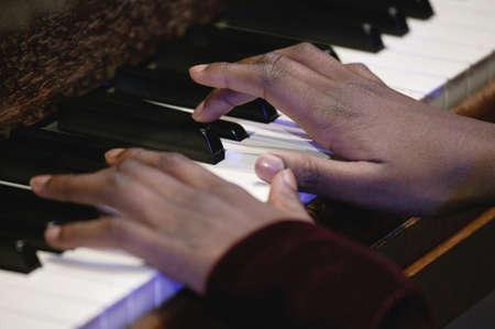 muscian: Dedos r�pidos  Foto de archivo