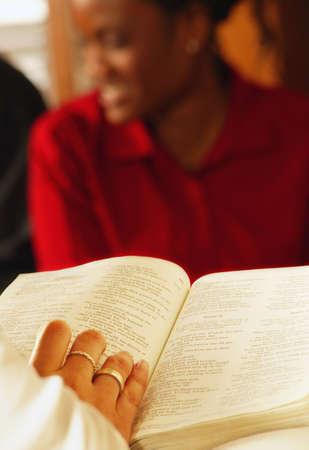 darren: Reading the Bible Stock Photo