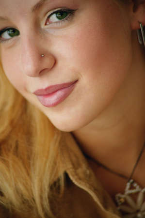 darren greenwood: Woman with nose ring