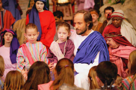 children at play: Jesus with children