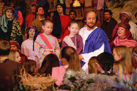 humility: Jesus with children