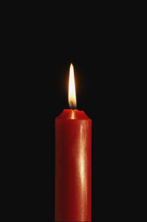 A burning candle Stock Photo