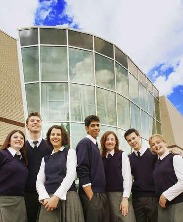 Groep van middelbare scholieren
