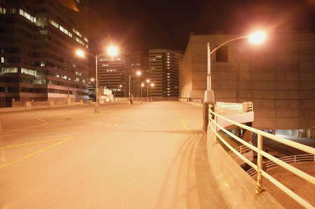 don hammond: Top level of parkade at night