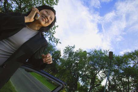 carson ganci: Woman has conversation on cell phone