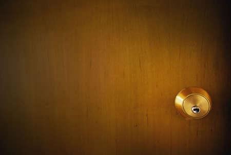 The lock on a door