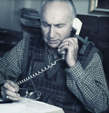 glubish: Man talks on phone