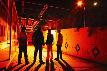 glubish: Group hanging out at night