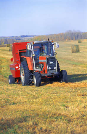 corey hochachka: Tractor makes bales of hay