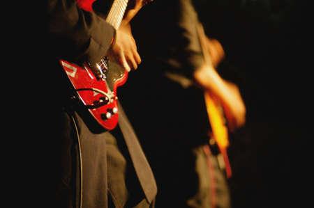 darren greenwood: Guitar players Stock Photo